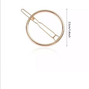 Nip women's geometric gold hair barrette